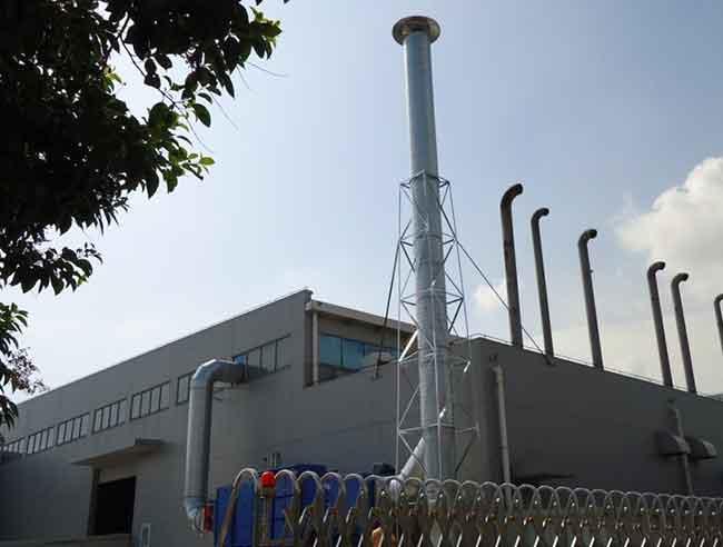 螺旋风管应用于设备排烟安装案例
