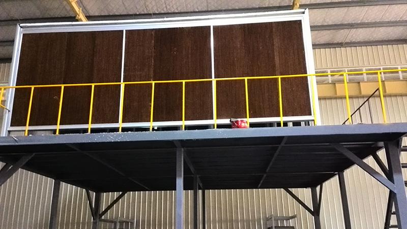 喷漆车间湿帘亚博88app除尘过滤系统应用